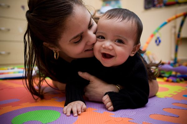 Play developmental games with your baby. Note: Talk WITH your baby, not to them!