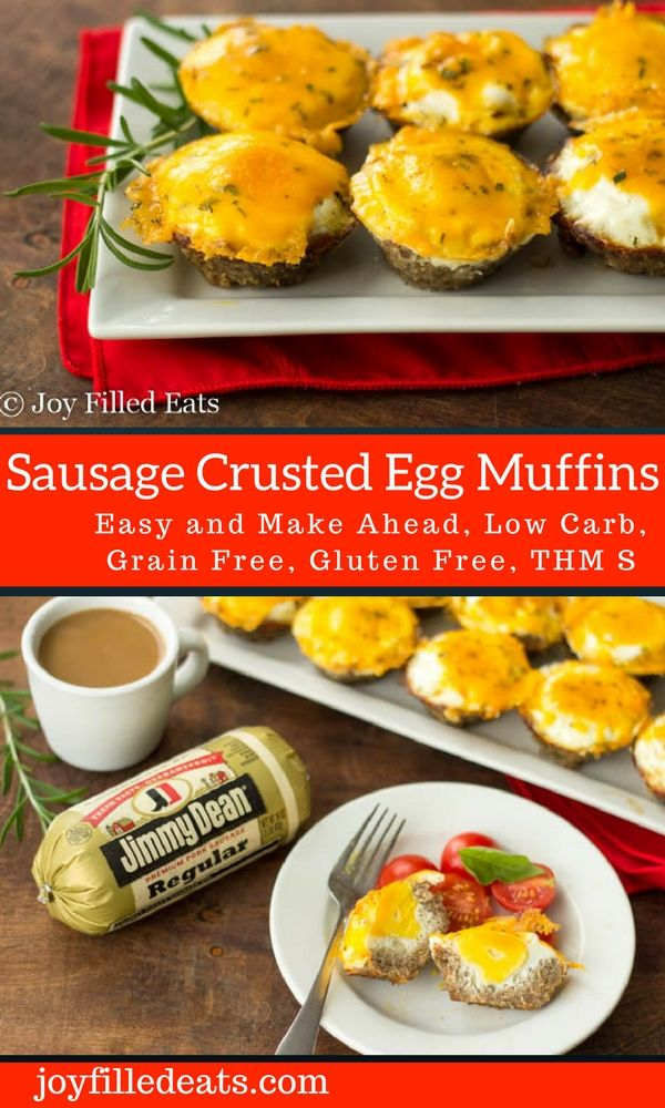 These Sausage Crusted Egg Muffins are a great make ahead breakfast idea for busy mornings. Low carb, grain free, THM S. @JDgreatdays #shineON #Pmedia #ad via @joyfilledeats @jimmydean @stopandshop