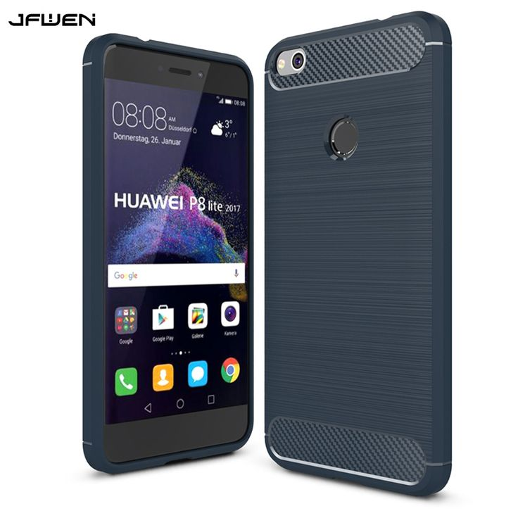 For Funda Huawei P8 Lite 2017 Capa Case Cover For Huawei P8 Lite 2017 Case Silicone Soft TPU Luxury Carbon Fiber Phone Cases