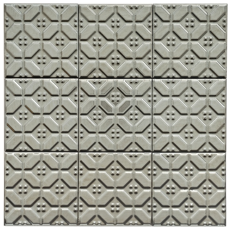 SomerTile 4x4-in Mercury Metal Hexagon Porcelain Décor Tile (Pack of 9) | Overstock.com