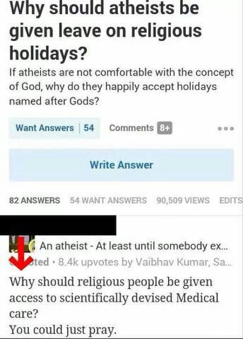 "Gotta love that argument-----The answer is simple--take religion out of all holidays and give them` neutral names. Also, change the name ""holiday"" to ""labour free day""."