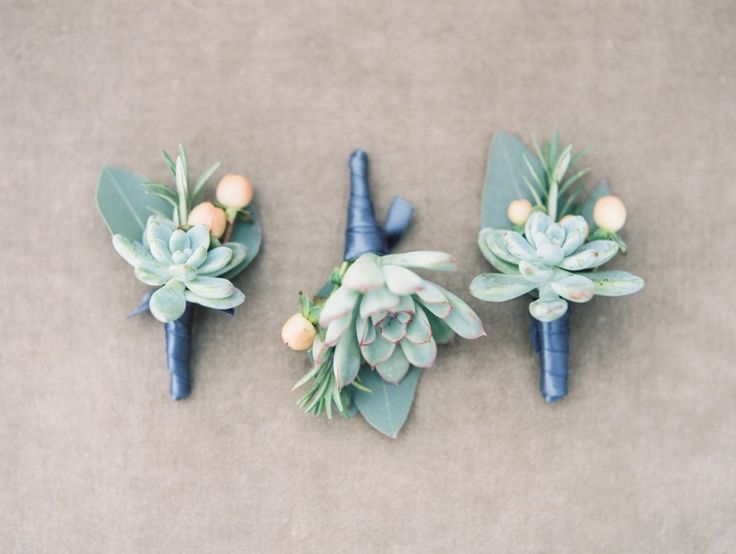 #succulent, #boutonniere  Photography: Taylor Lord Photography - taylorlordphotography.com Florals by Petals, ink.  Read More: http://www.stylemepretty.com/2014/06/11/eclectic-austin-wedding-pastel-hues/