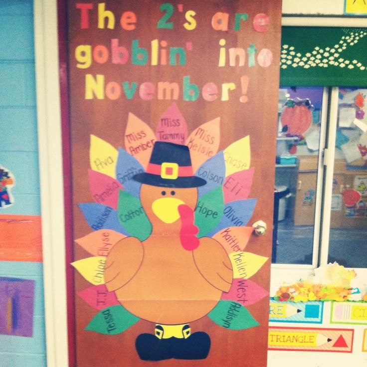"""Thanksgiving"" November Classroom Door!"