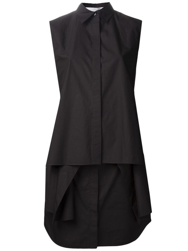 Хлопковое платье-рубашка без рукавов Alexander Wang, farfetch.com, €577