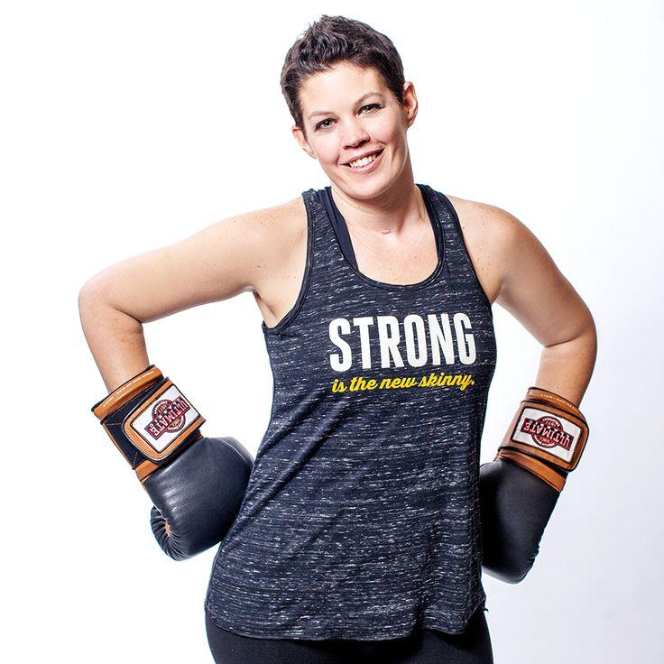 Women's Flowy Racerback Tank: Strong is the new skinny by Asskicker Ink. #asskickerarmy