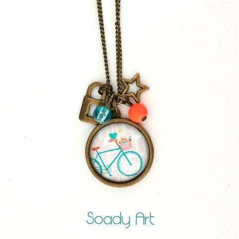 Biciklis nyaklánc , Ékszer, óra, Medál, Nyaklánc, Meska