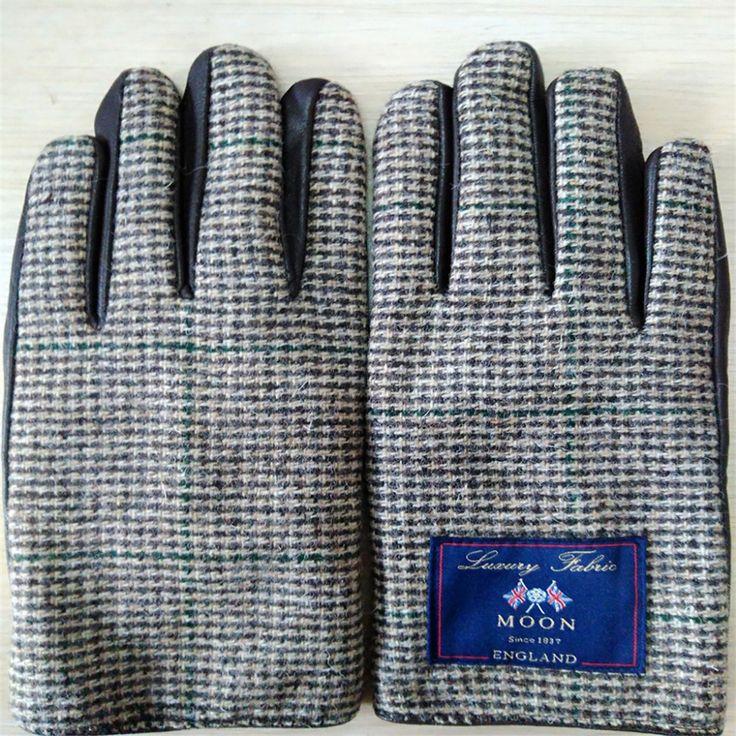 15.00$  Buy here - http://alinzj.shopchina.info/go.php?t=32809700583 - Men & women Leather Gloves Genuine Sheepskin Gloves Fashion Thick Warm Winter Fashion Male Driving Gloves 15.00$ #aliexpresschina