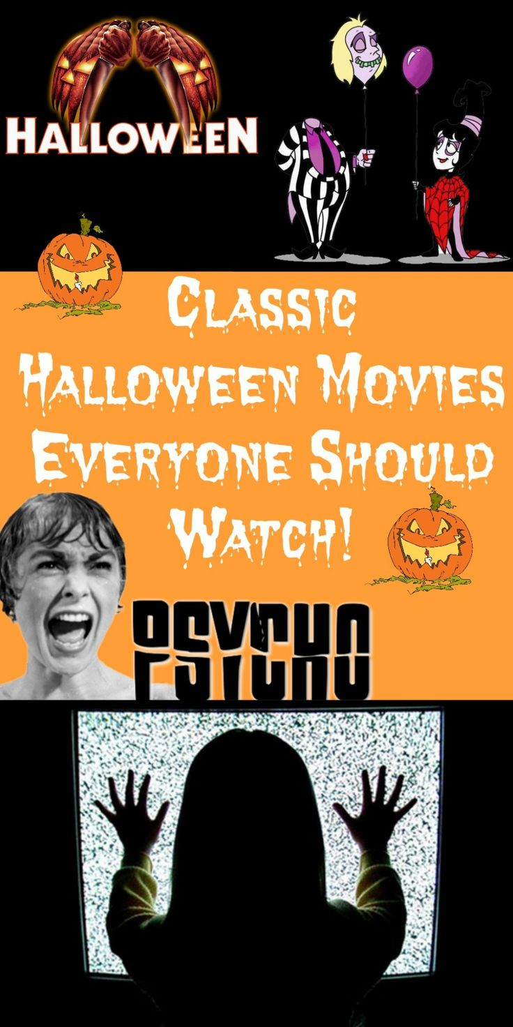 A brief explanation for my list of classic halloween movies.