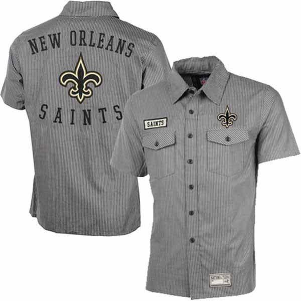 3a80d20f4 ... saints nfl New Orleans Saints Tailgate Crew Button Down Shirt Nike  Limited Drew Brees Jersey - 9 ...
