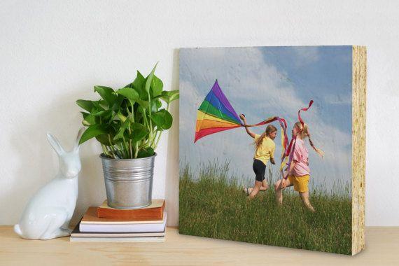 Photo on OSB wood  7.5x 7.5 custom photo printed