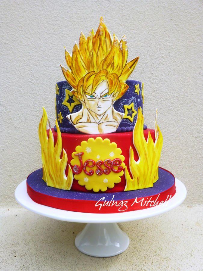 """Goku Sayan 1"" cake - Visit now for 3D Dragon Ball Z shirts now on sale!"