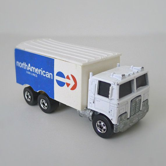 1980 Hot Wheels North American Van Lines Moving Truck with Rear Opening Doors