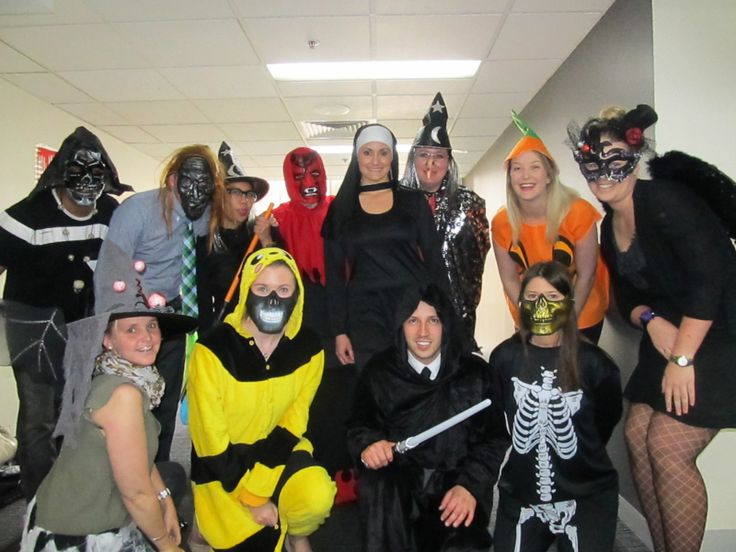Marinka from Holland at a Halloween party during her internship in Australia. Good job on the costumes!