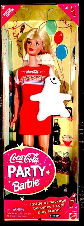 ❤Coca-Cola PARTY Barbie 1998