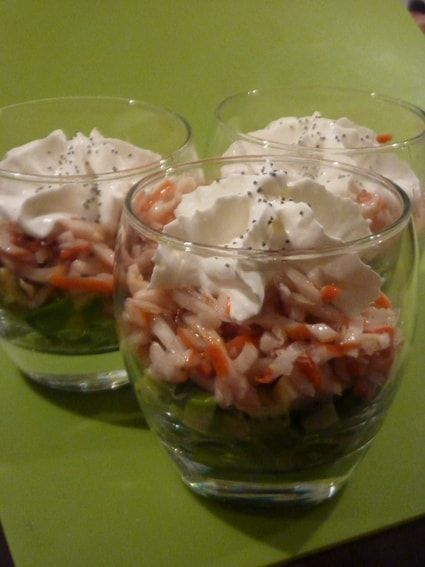 Verrine Avocat Kiwi Crabe