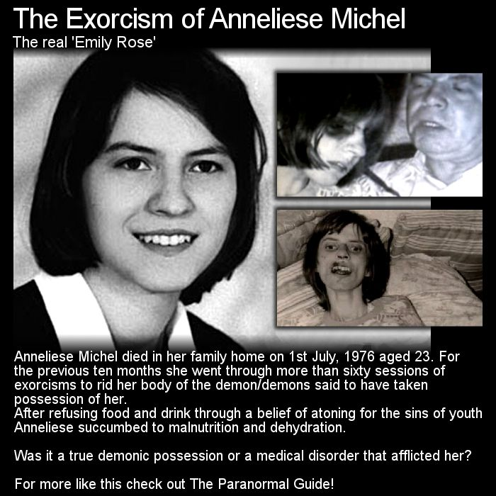The real life exorcism of Anneliese Michel inspired the movie 'The Exorcism of Emily Rose'. What is the real story? Head to this link for the full article: http://www.theparanormalguide.com/1/post/2012/11/the-exorcism-of-anneliese-michel.html
