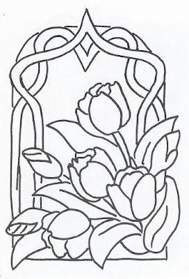 vitral tulipan