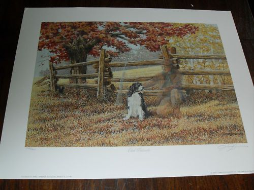 $129.99  JAMES LUMBERS-Old Friends-Signed Limited Edition Print #dog #pets #walldecor