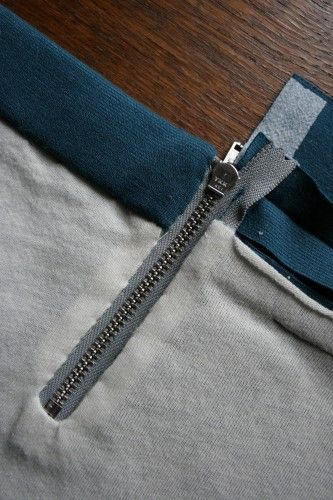 how to install an exposed zipper (with a lining, and not in line with a seam)
