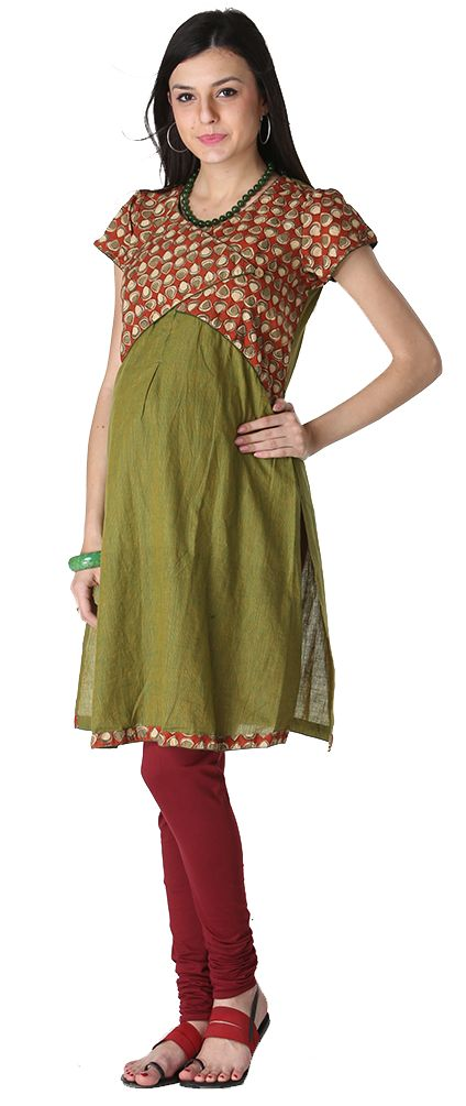 Indian maternity fashion Olive green nursing kameeze - incl shipping http://www.bebstyle.com/shop/nursing/olive-green-nursing-kameeze-incl-shipping.html