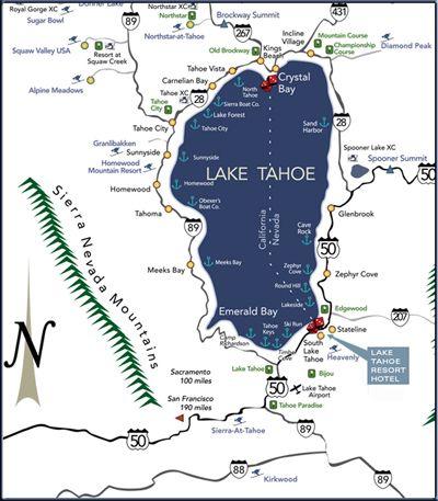 Getting to South Lake Tahoe - Lake Tahoe Resort Hotel