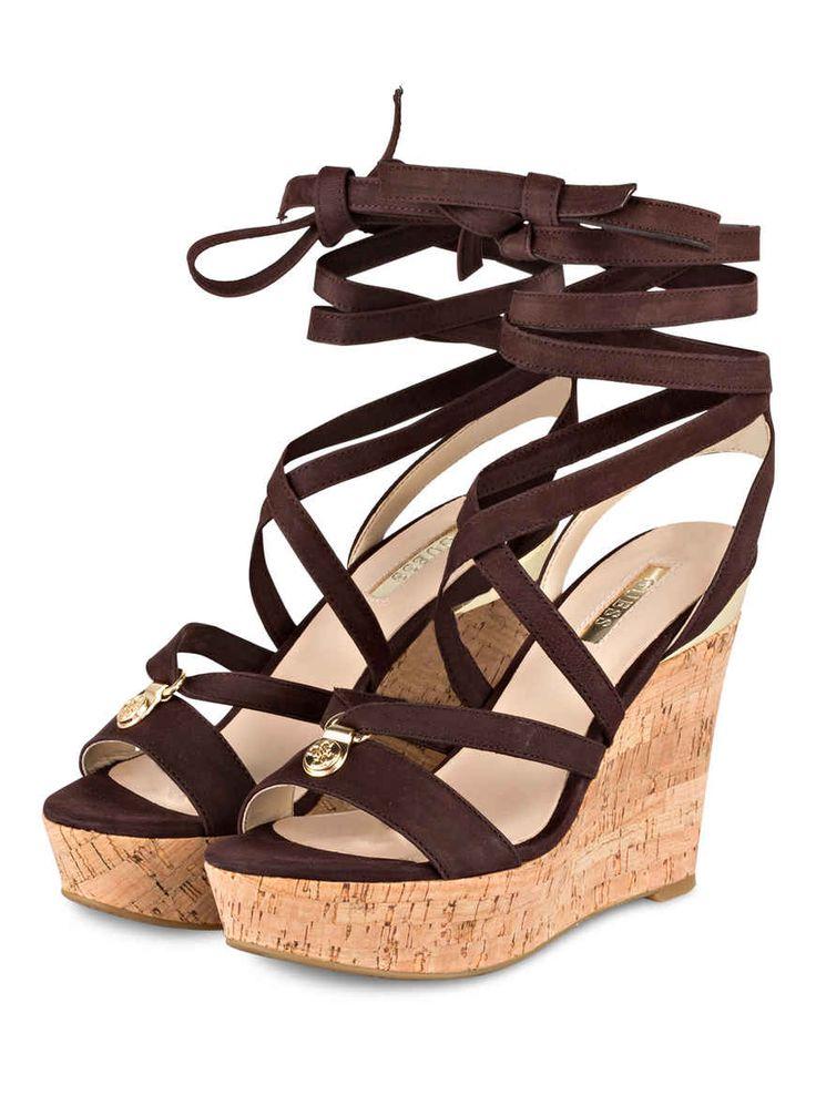 Guess Wedges FLOHA - http://td.oo34.net/cl/?aaid=njkq16y14c57qsu4&ein=1b42lanfi9g7poyw&paid=eg6pw0wqc6we326o - guess - schuhe - shoes - keilabsatz - keil sandalen - keil sandaletten - brown