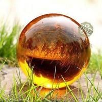 Amber Asian Rare Natural Magic Crystal Healing Ball Sphere 40mm + Stand