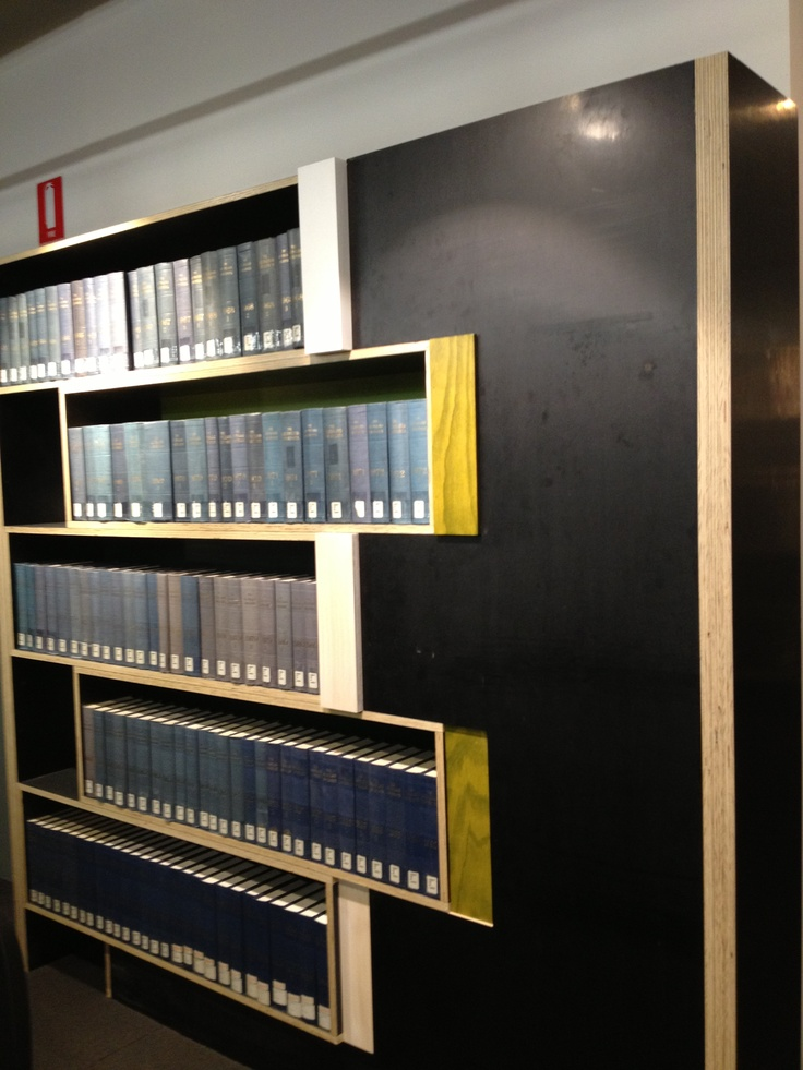 Using books to create feature book shelves