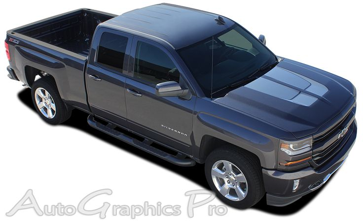 """2016 Chevy Silverado 1500 """"CHASE RALLY"""" Edition Style Truck Racing Vinyl Graphics Stripes Kit"""
