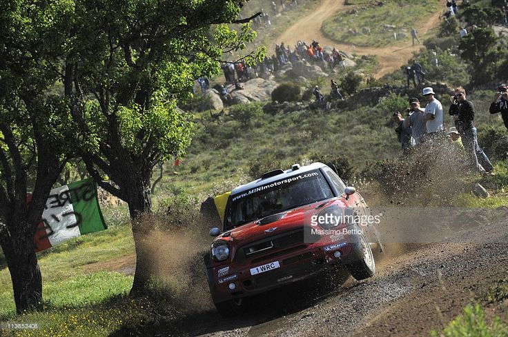 Daniel Sordo of Spain and Carlos Del Barrio of Spain compete in their Mini WRC Team Mini John Cooper Works during Day3 of the WRC Rally d'Italia Sardinia on May 8, 2011 in Olbia, Italy.