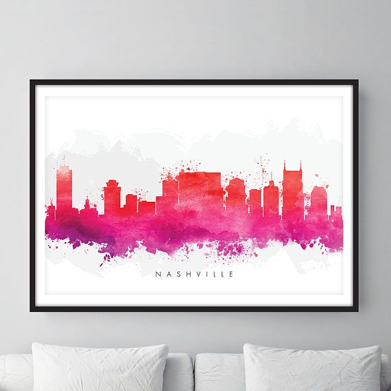Check out this item in my Etsy shop https://www.etsy.com/uk/listing/525951355/nashville-skyline-nashville-tennessee