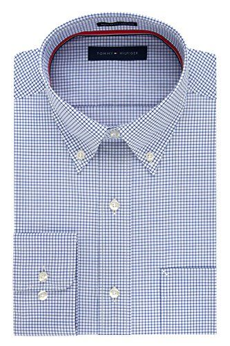Tommy Hilfiger Men's Non Iron Regular Fit Check Button Do...