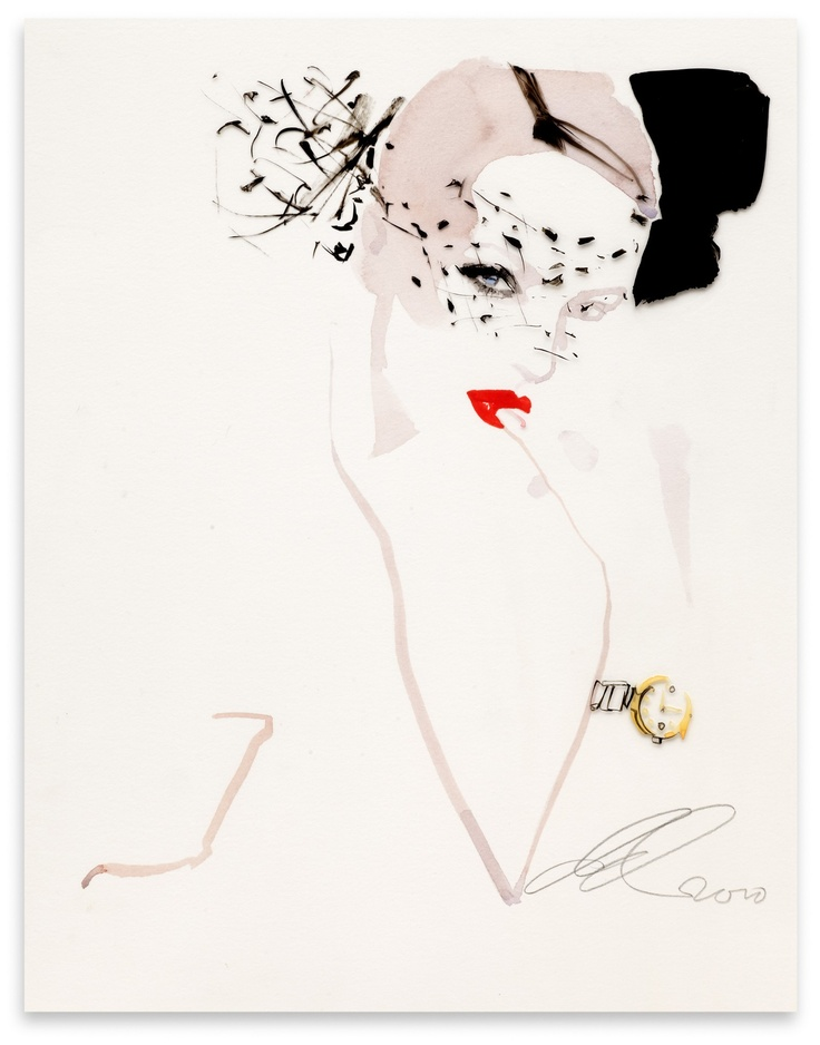Omega 2 | David Downton #Illustration                                                                                                                                                                                 More