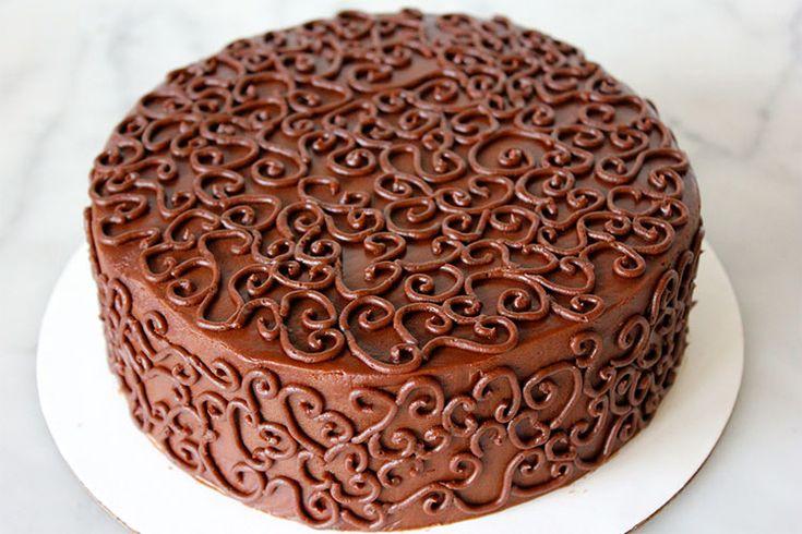 как украсить торт шоколадным узором фото красиво души