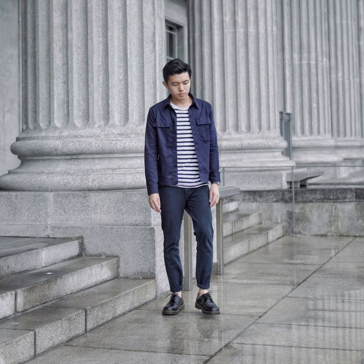 OOTD men outfit ideas hm jacket Uniqlo jeans dr martens national gallery singapore