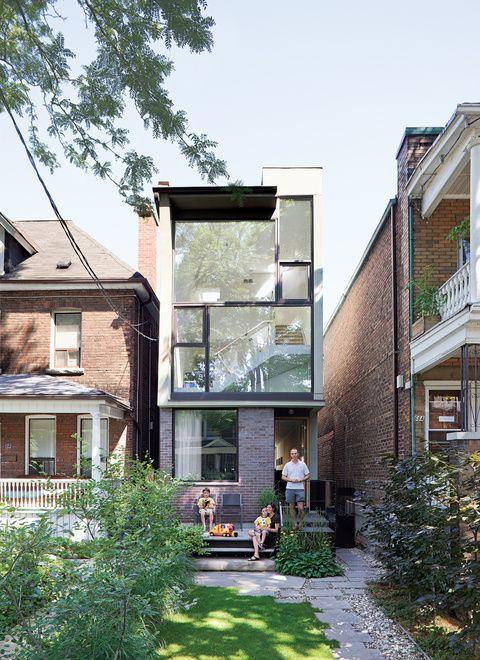 Narrow brick house in Toronto.