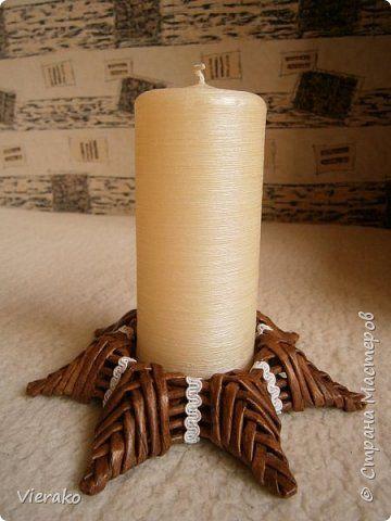 Поделка изделие Рождество Плетение Мой рождественный наборчик - My little Christmas set Бумага газетная Трубочки бумажные фото 2