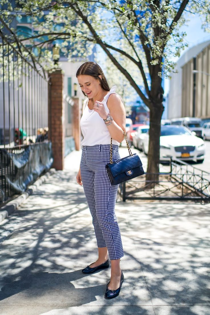 1689c4ec1da How to Style Gingham Pants for Work | Spring Outfits | Summer ...