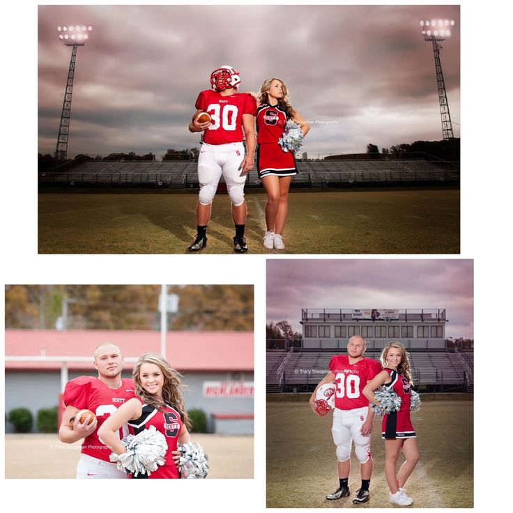 Cheerleader and football player senior pictures ❤️
