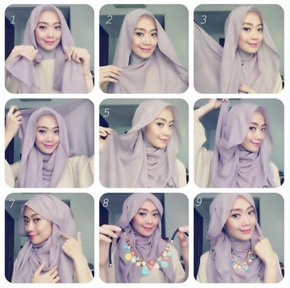 Beautiful Hijab Style With Necklace