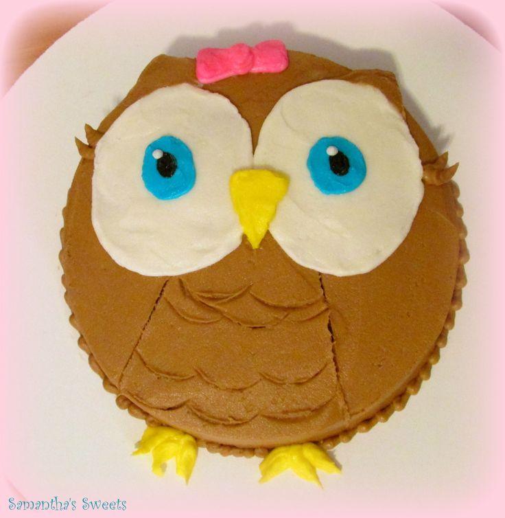 Owl 1st birthday smash cake