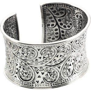 Sterling Silver 41.75 MM WIDTH Fashion Cuff Bracelet Jewelry Adviser Cuff Bracelets. $441.44