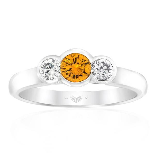 Echunga Biggs Flat diamond ring featuring a Treacle flavoured* centre diamond in 18ct white gold. A perfect dress ring or unique…
