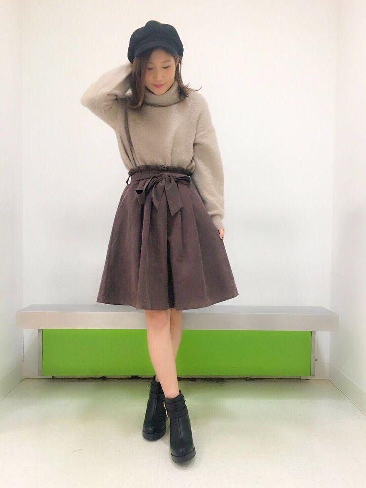 【原宿店】再入荷♡リボン付き ミディ丈スカート♡