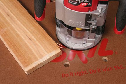 Avoiding router tearout router tables for Chuck s hardwood flooring