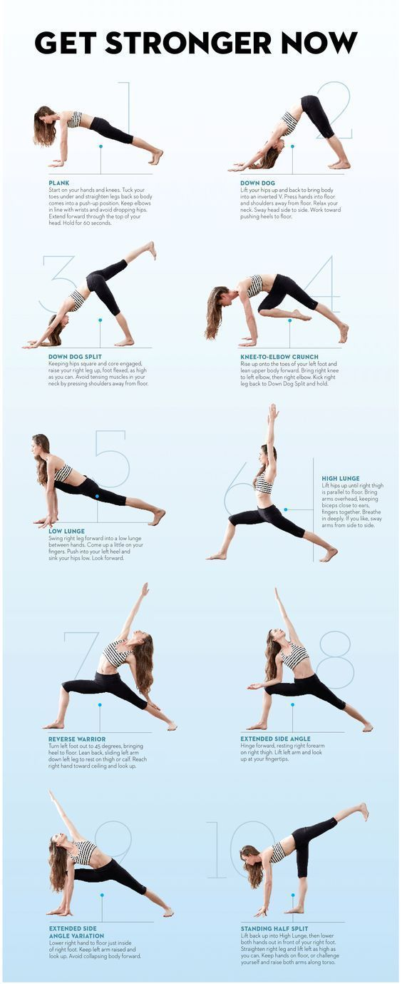 Do Tara's routine four times a week for a total-body, fat-blasting workout. Hold each pose for five breaths, unless otherwise noted. When you finish the sequence on the right side, repeat on your left. #YoYoYoga-PosesandRoutines