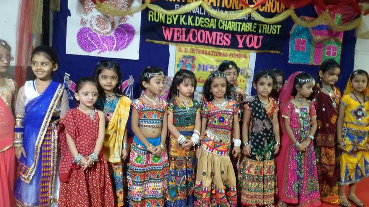 Pre Primary Children enjoying Navratri.  #Navratri #Enjoyment #Dance #Children