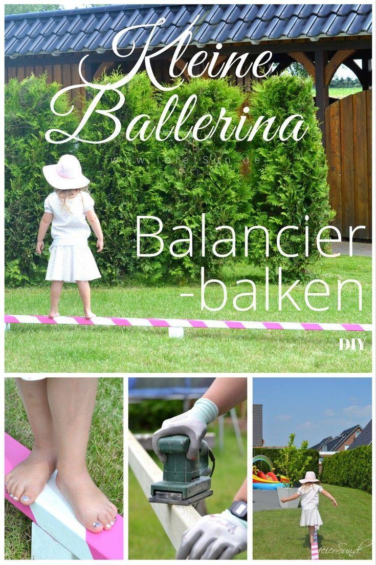 Wir bauen einen Balancierbalken fuer alle kleinen Ballerinas - jede kleine Ballerina hat Freude daran und das Turtorial ist sehr einfach. Ein einfaches Do it Yourself DiY fuer viel Freude im Garten