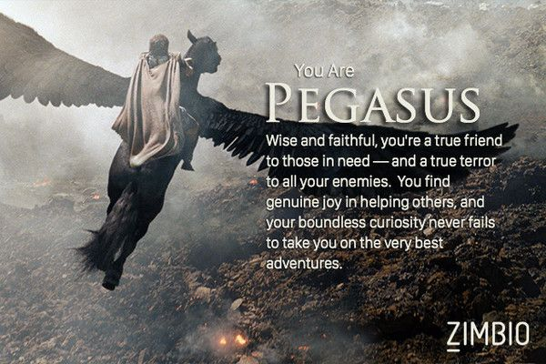 I Took Zimbio S Greek Mythology Quiz And I M Pegasus Who