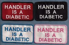 HANDLER IS A DIABETIC - service dog, therapy dog vest patch